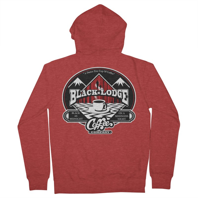 Black Lodge Coffee Company Men's Zip-Up Hoody by Designs By Mephias