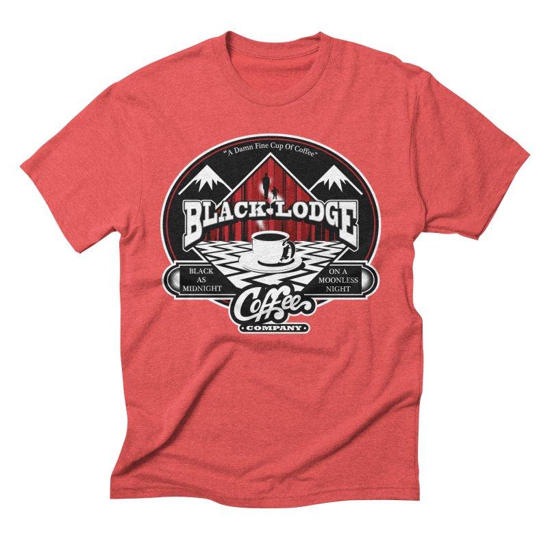 Black Lodge Coffee Company Men's Triblend T-Shirt by Designs By Mephias