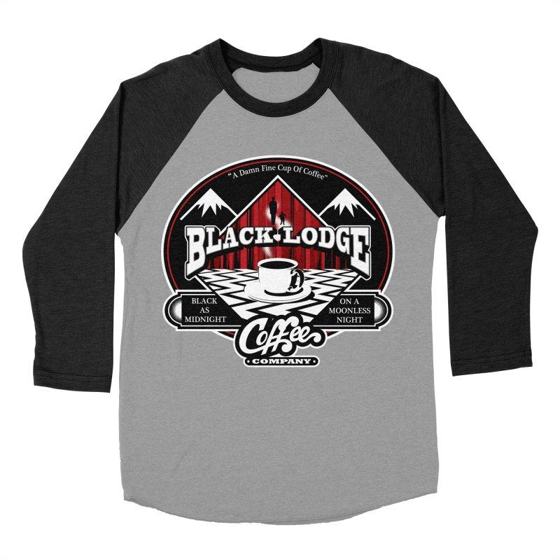 Black Lodge Coffee Company Men's Baseball Triblend T-Shirt by Designs By Mephias