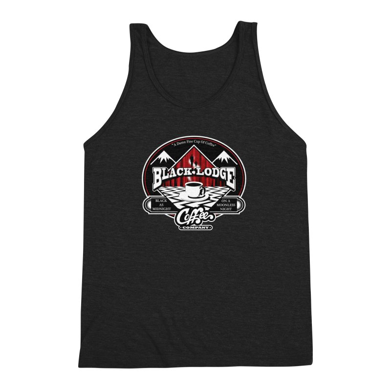 Black Lodge Coffee Company Men's Triblend Tank by Designs By Mephias