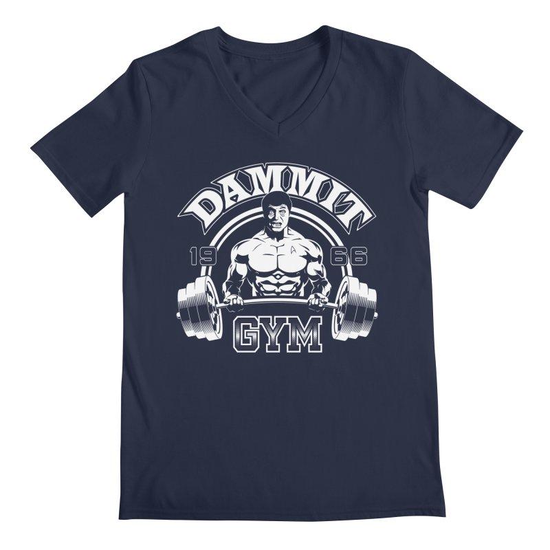 Dammit Gym Men's V-Neck by Designs By Mephias
