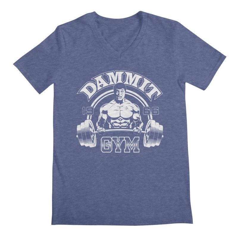 Dammit Gym Men's V-Neck by Designs By Mephias