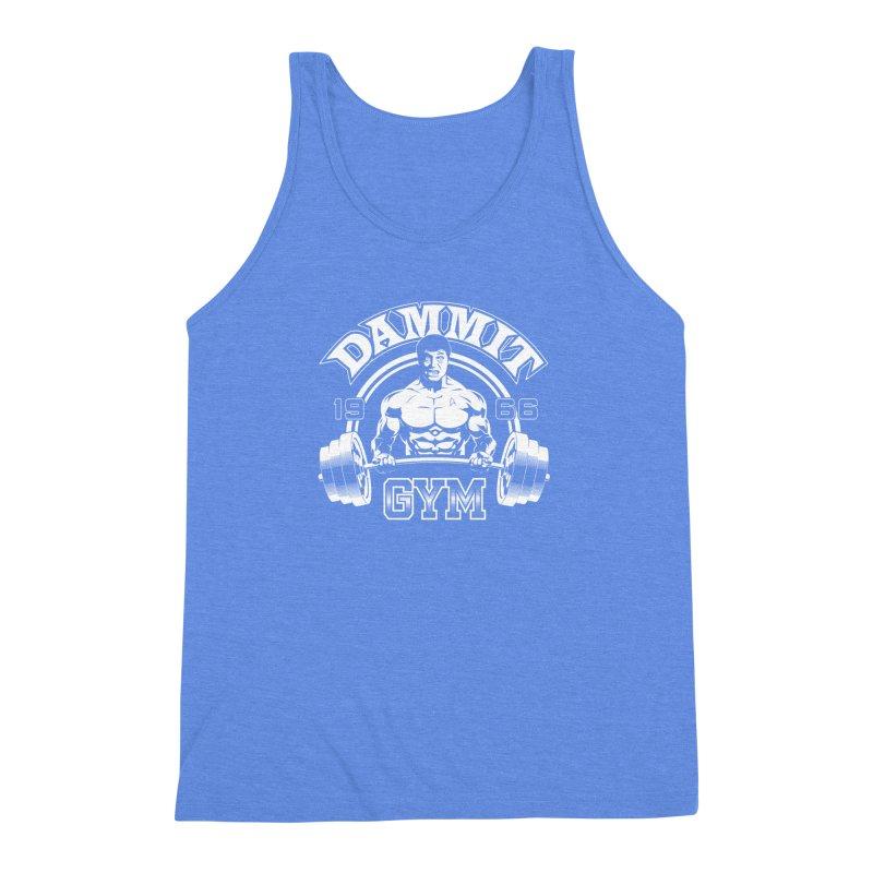 Dammit Gym Men's Triblend Tank by Designs By Mephias