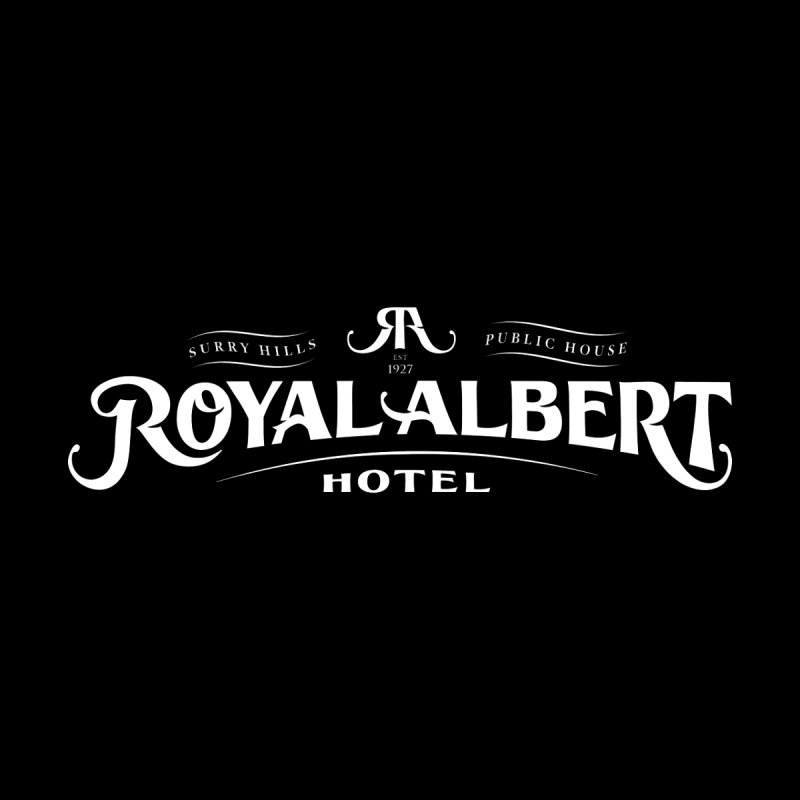 Royal Albert White Logo by merchhawker's Artist Shop