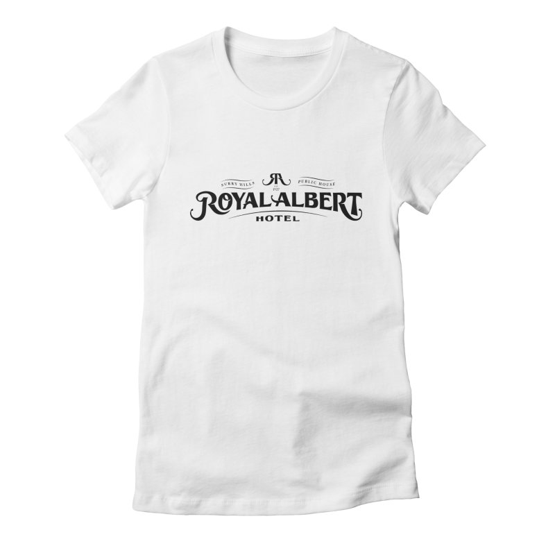 Royal Albert Logo Black Women's T-Shirt by merchhawker's Artist Shop