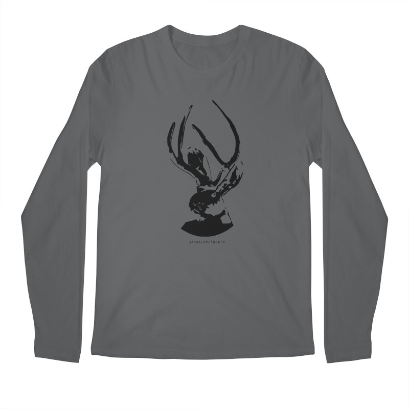 Jackalope Logo Black Men's Longsleeve T-Shirt by merchhawker's Artist Shop