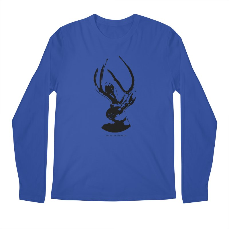 Jackalope Logo Black Men's Regular Longsleeve T-Shirt by merchhawker's Artist Shop