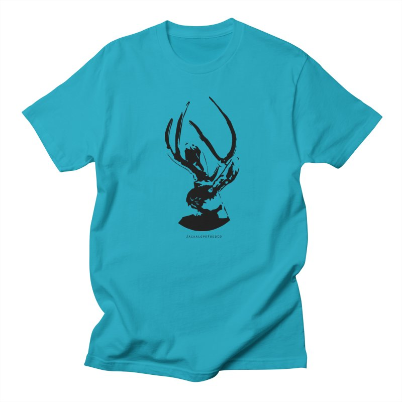 Jackalope Logo Black Men's T-Shirt by merchhawker's Artist Shop