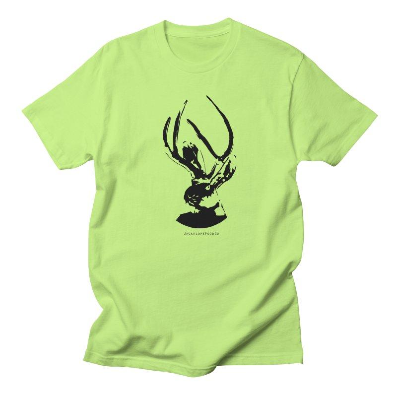 Jackalope Logo Black Men's T-Shirt by merchhawker's Artist Shop