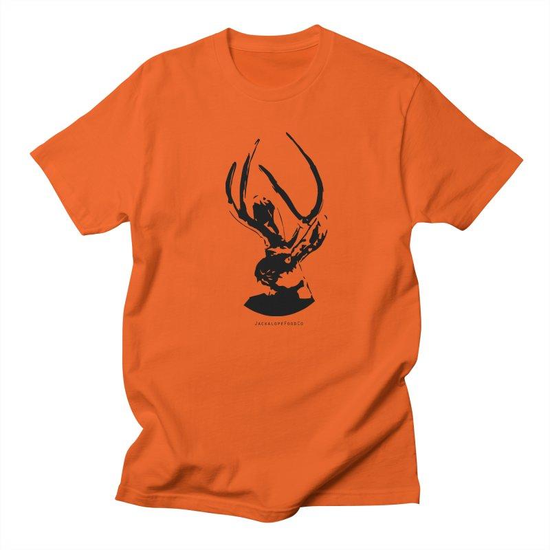 Jackalope Logo Black Men's Regular T-Shirt by merchhawker's Artist Shop
