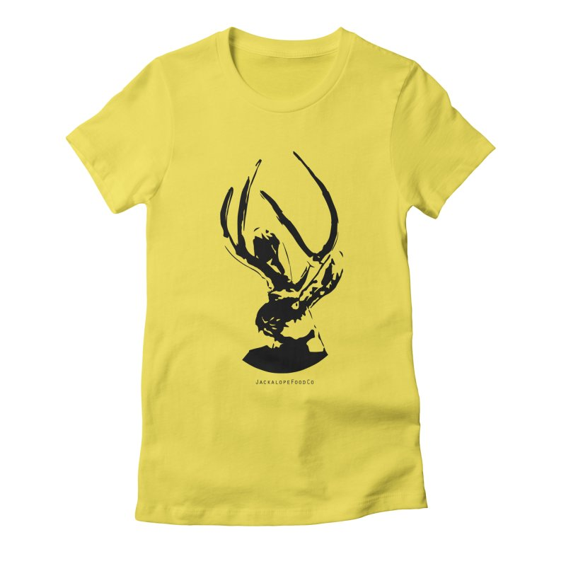 Jackalope Logo Black Women's T-Shirt by merchhawker's Artist Shop