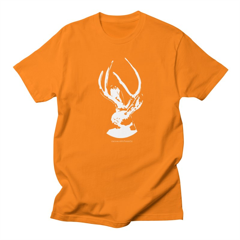 Jackalope Logo White Men's T-Shirt by merchhawker's Artist Shop