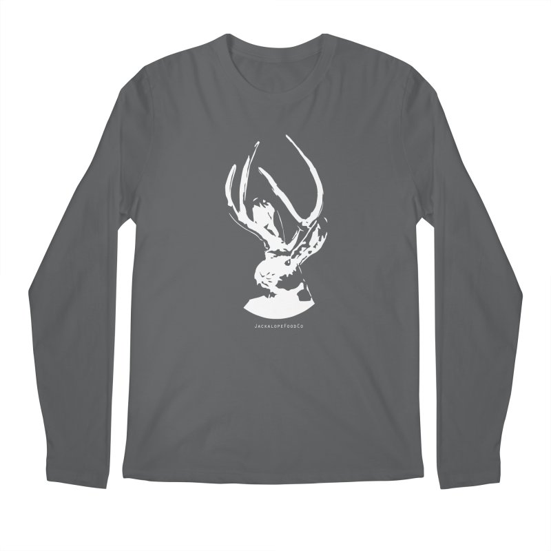 Jackalope Logo White Men's Longsleeve T-Shirt by merchhawker's Artist Shop
