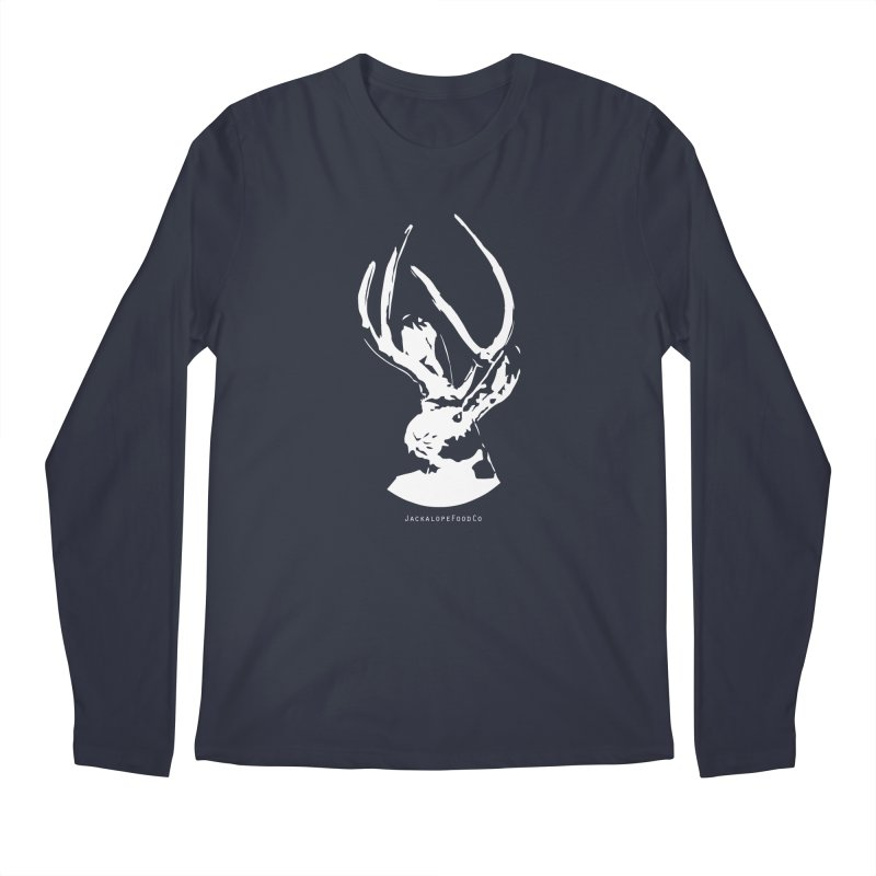 Jackalope Logo White Men's Regular Longsleeve T-Shirt by merchhawker's Artist Shop