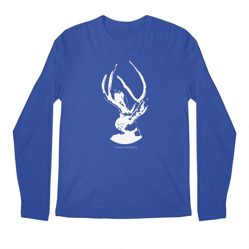 Jackalope Logo White Men's Regular Longsleeve T-Shirt by merchhawker's Artist Shop
