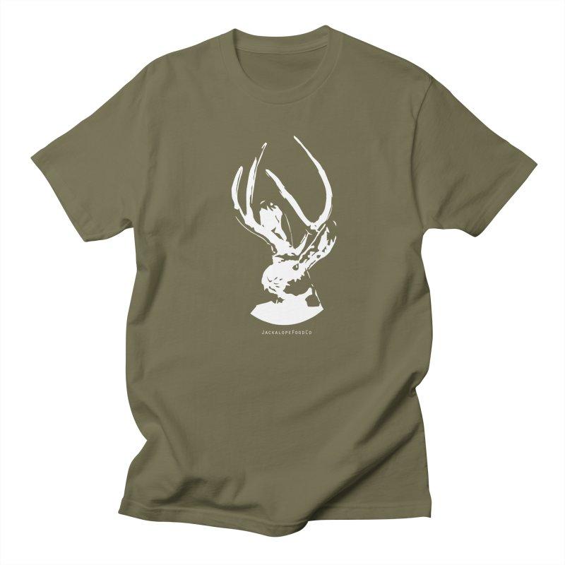 Jackalope Logo White Men's Regular T-Shirt by merchhawker's Artist Shop