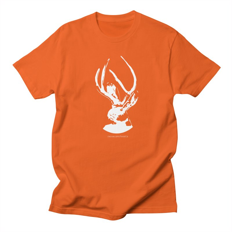 Jackalope Logo White Men's Regular T-Shirt by merchhawker's Artist Shop