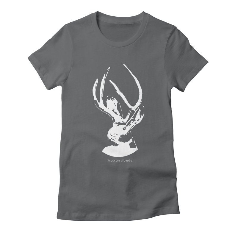 Jackalope Logo White Women's T-Shirt by merchhawker's Artist Shop