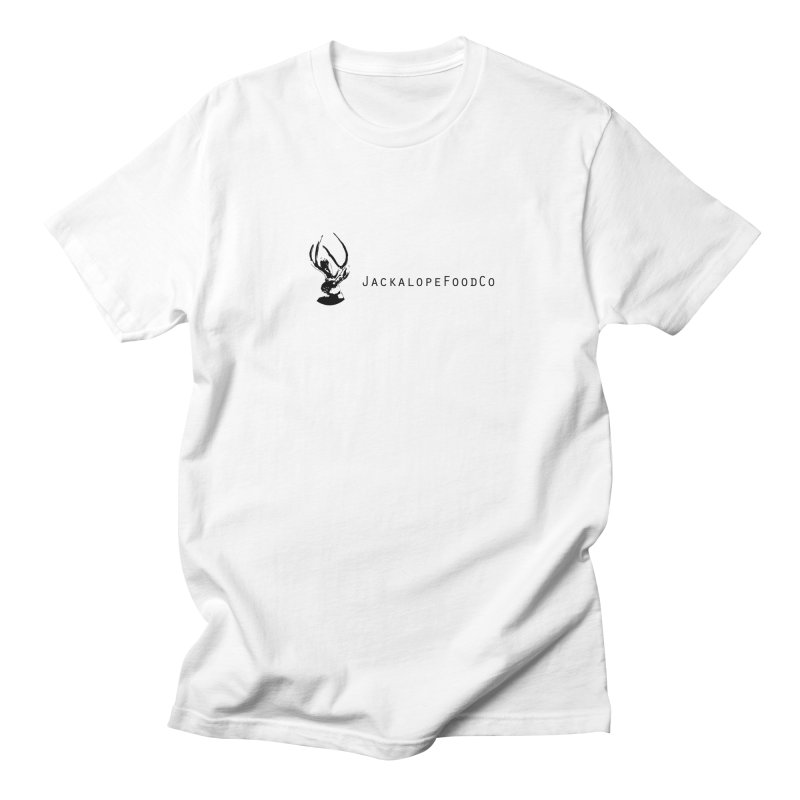 Jackalope Food Co. Small Logo in Men's Regular T-Shirt White by merchhawker's Artist Shop