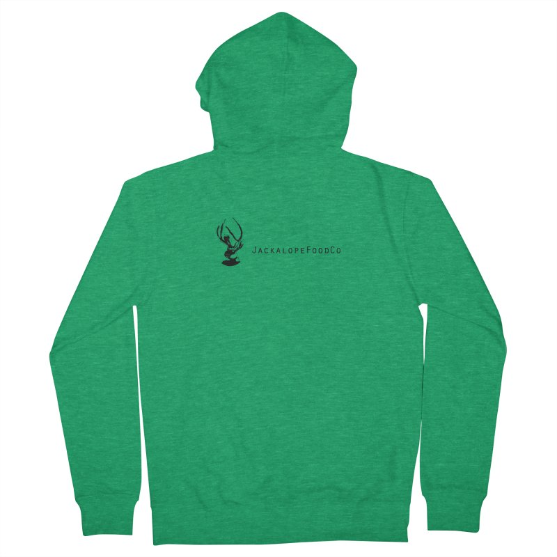 Jackalope Food Co. Small Logo Men's Zip-Up Hoody by merchhawker's Artist Shop