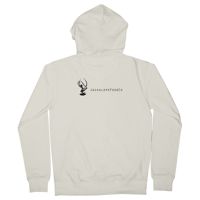 Jackalope Food Co. Small Logo Men's French Terry Zip-Up Hoody by merchhawker's Artist Shop
