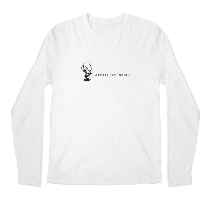 Jackalope Food Co. Small Logo Men's Regular Longsleeve T-Shirt by merchhawker's Artist Shop