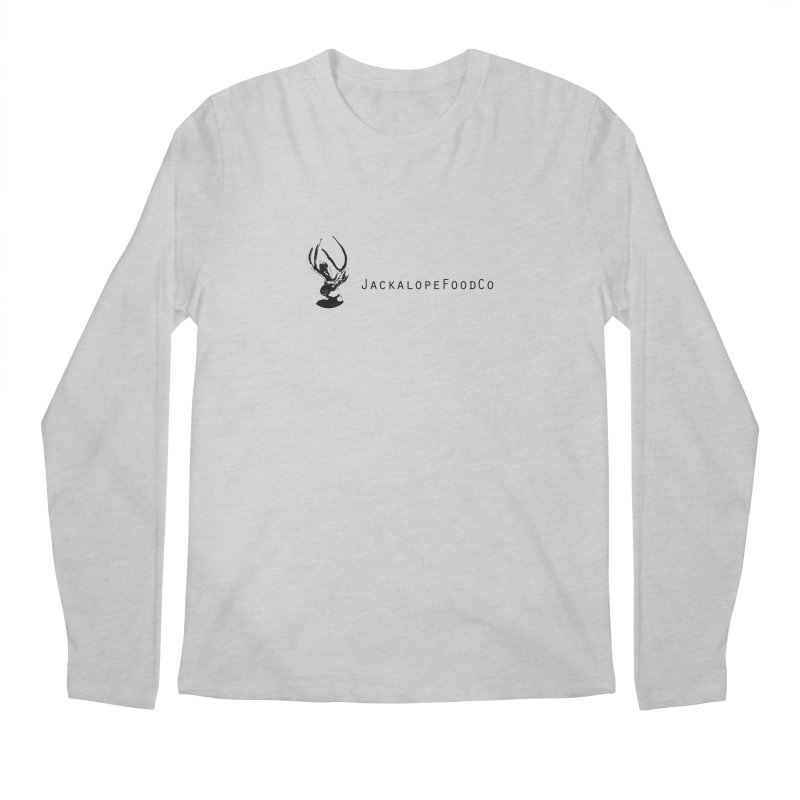 Jackalope Food Co. Small Logo Men's Regular Longsleeve T-Shirt by merchhawker's Artist Shop