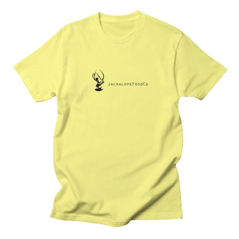 Jackalope Food Co. Small Logo in Men's Regular T-Shirt Lemon by merchhawker's Artist Shop