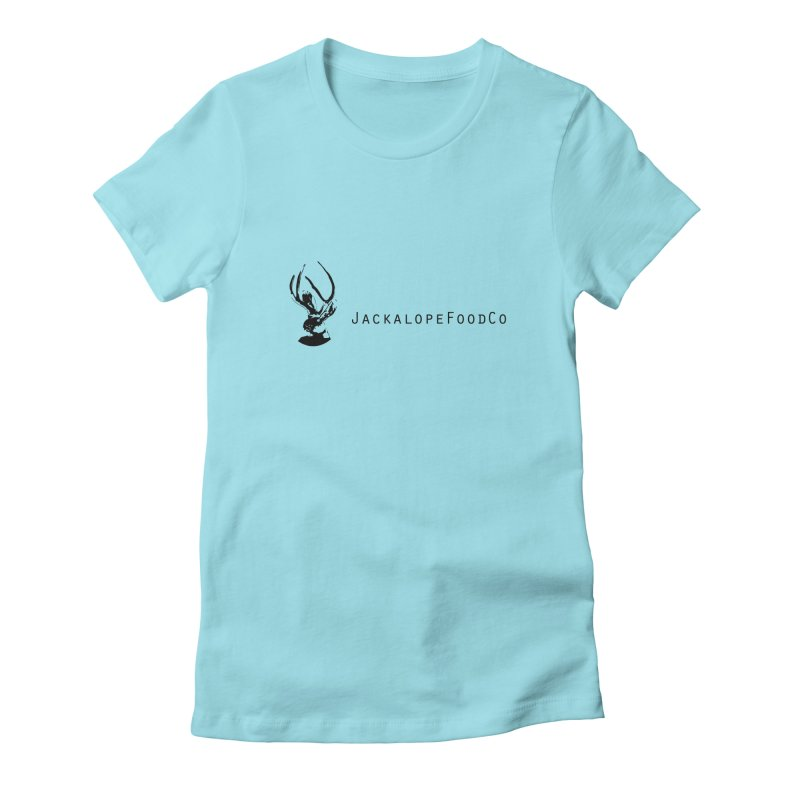 Jackalope Food Co. Small Logo Women's Fitted T-Shirt by merchhawker's Artist Shop