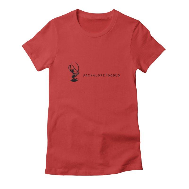 Jackalope Food Co. Small Logo Women's T-Shirt by merchhawker's Artist Shop