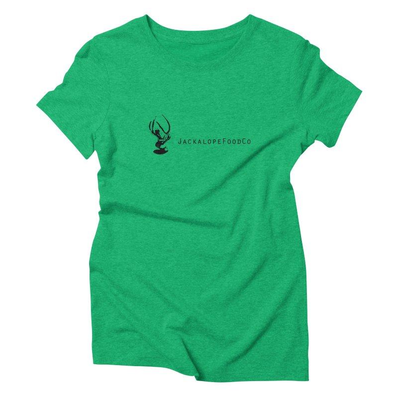 Jackalope Food Co. Small Logo Women's Triblend T-Shirt by merchhawker's Artist Shop