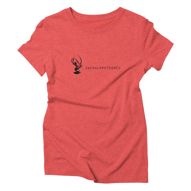 Jackalope Food Co. Small Logo Women's Triblend T-Shirt by merchhawker's Artist Shop