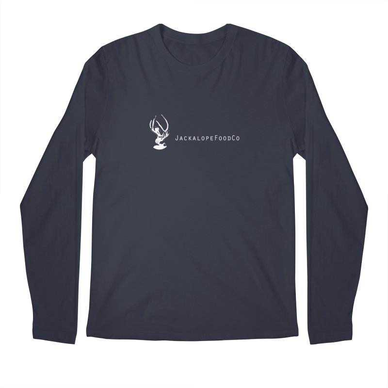 Jackalope Food Co Small Logo White Men's Longsleeve T-Shirt by merchhawker's Artist Shop