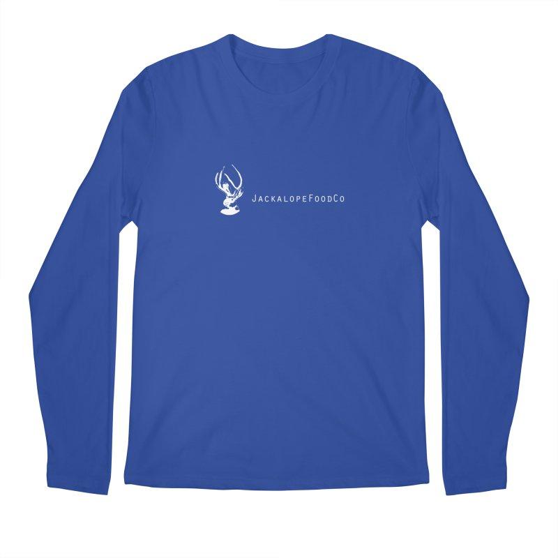 Jackalope Food Co Small Logo White Men's Regular Longsleeve T-Shirt by merchhawker's Artist Shop