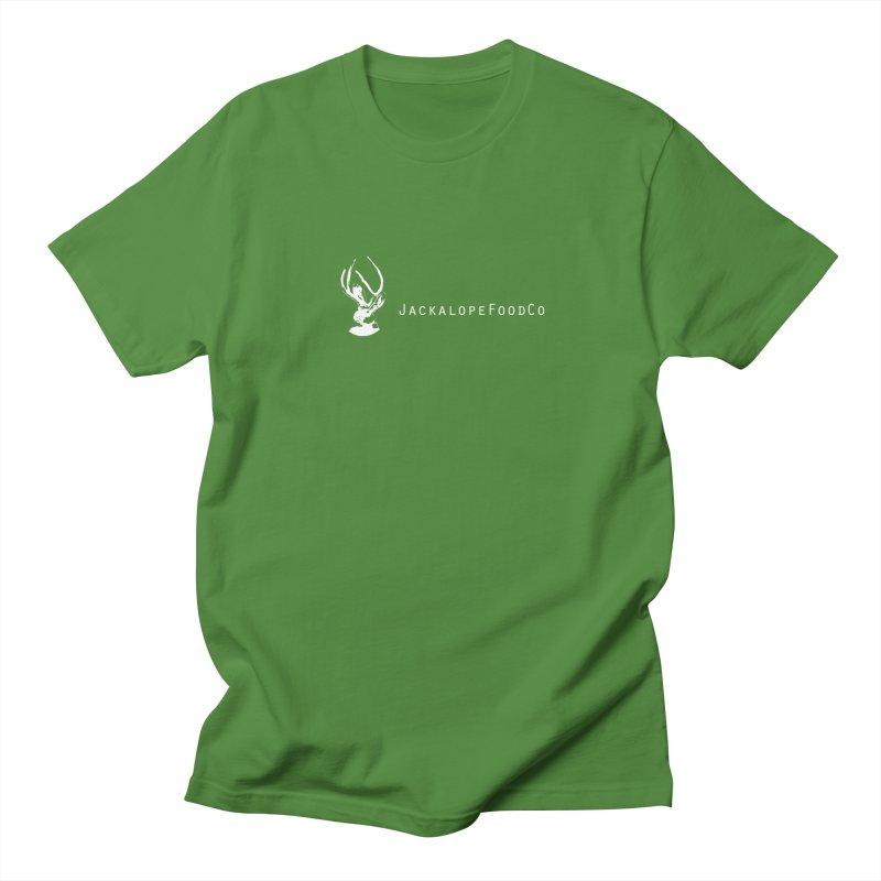 Jackalope Food Co Small Logo White Men's T-Shirt by merchhawker's Artist Shop