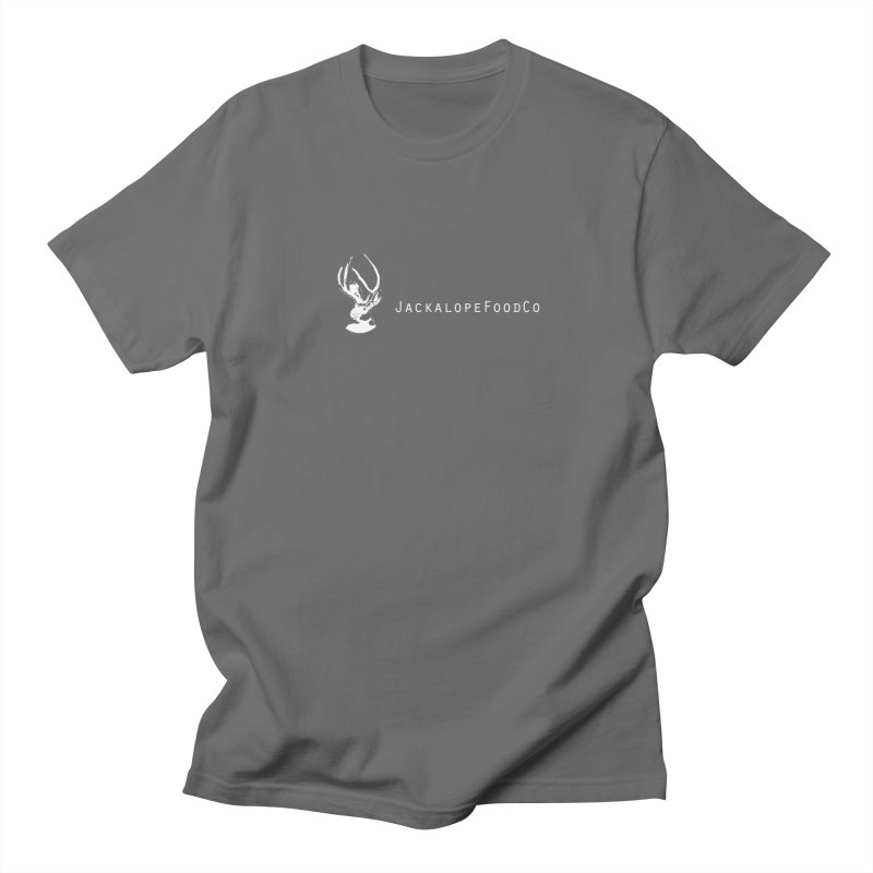 Jackalope Food Co Small Logo White Men's T-Shirt by merchhawker's Artist Shop
