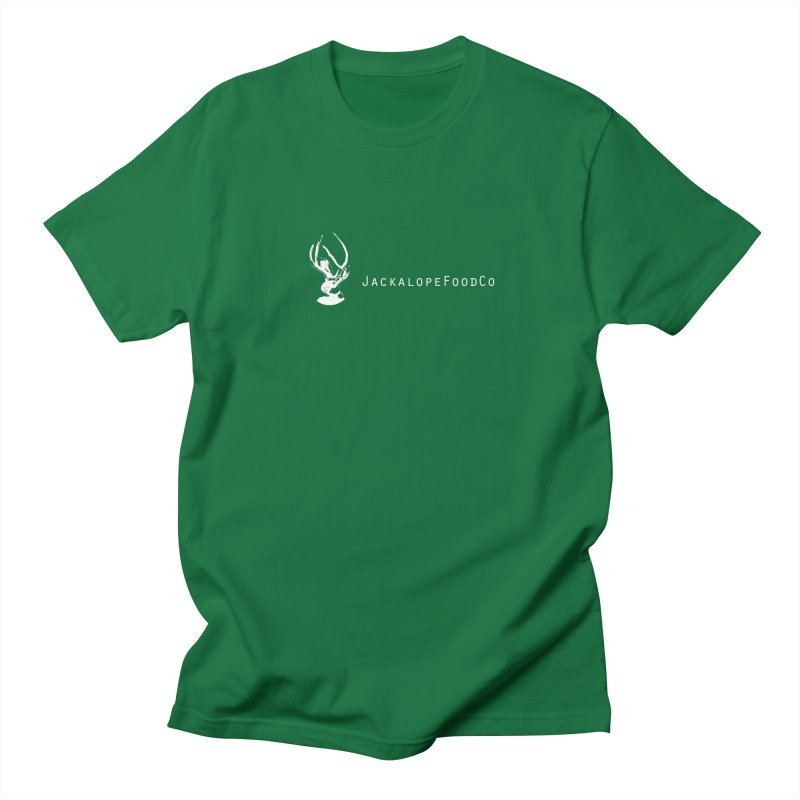 Jackalope Food Co Small Logo White Men's Regular T-Shirt by merchhawker's Artist Shop
