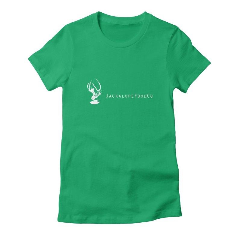 Jackalope Food Co Small Logo White Women's T-Shirt by merchhawker's Artist Shop