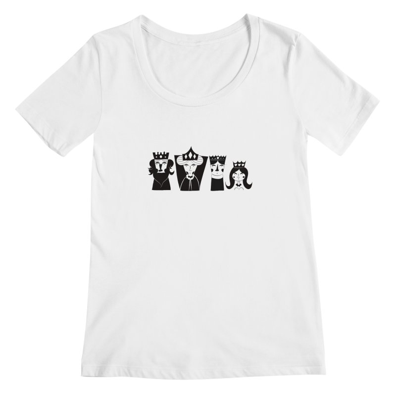 Royal Family Women's Scoopneck by meredith's Artist Shop