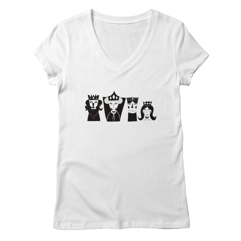 Royal Family Women's V-Neck by meredith's Artist Shop