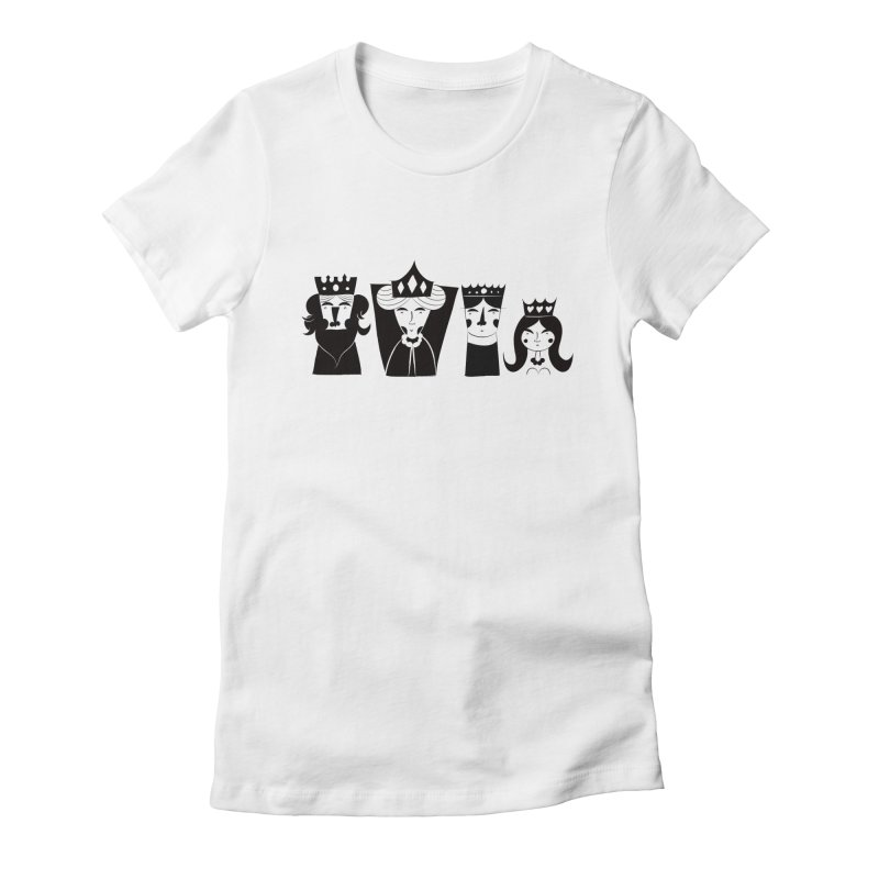 Royal Family Women's Fitted T-Shirt by meredith's Artist Shop