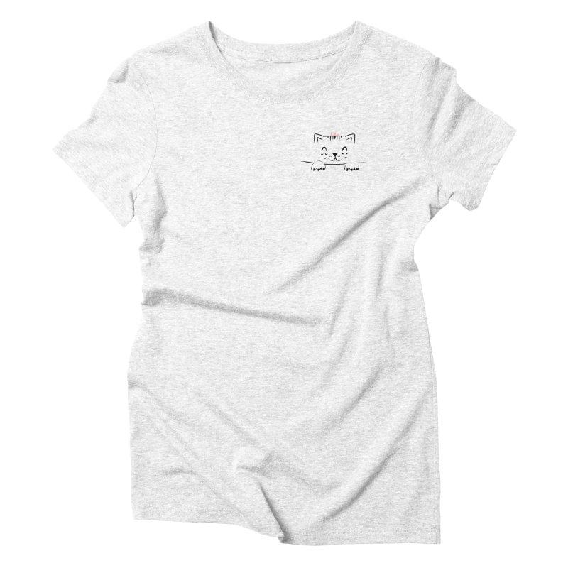 Peek-A-Boo!!! Women's Triblend T-shirt by meredith's Artist Shop