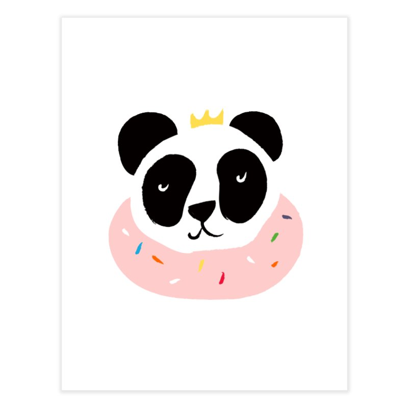 Panda Donut Home Fine Art Print by meredith's Artist Shop