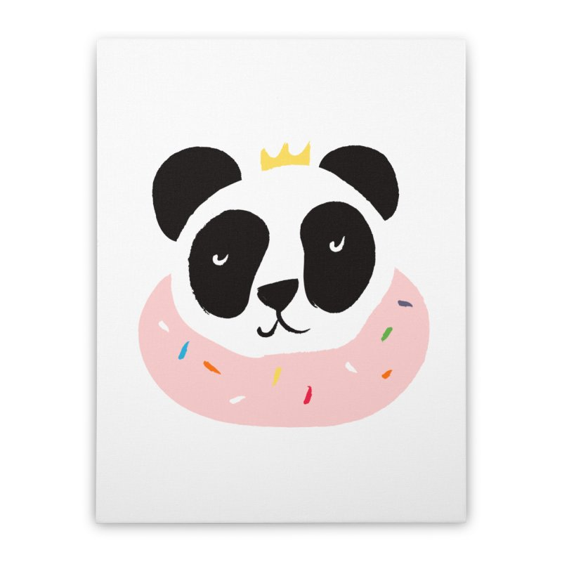 Panda Donut Home Stretched Canvas by meredith's Artist Shop