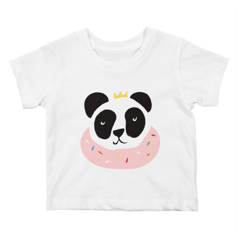 Panda Donut Kids Baby T-Shirt by meredith's Artist Shop