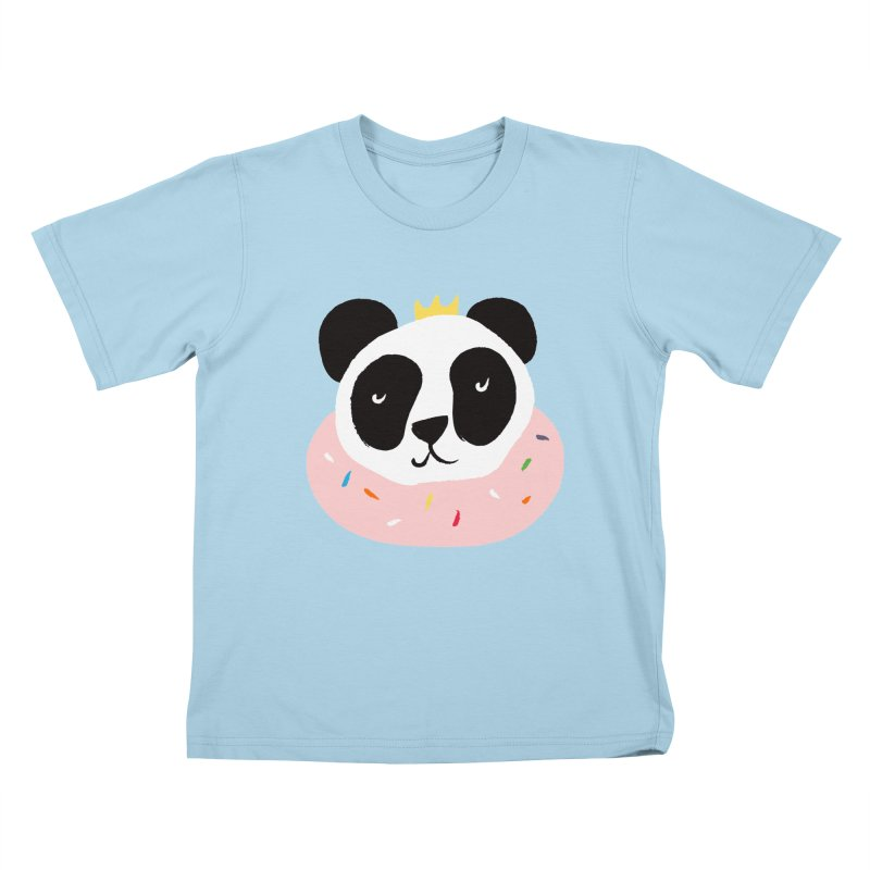 Panda Donut Kids T-shirt by meredith's Artist Shop