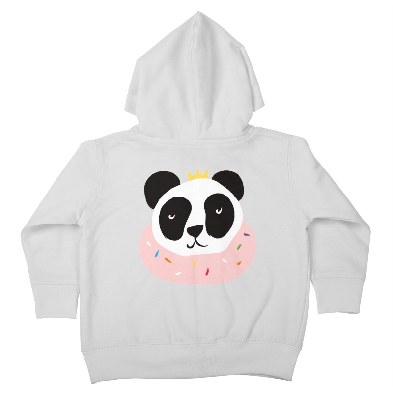 Panda Donut Kids Toddler Zip-Up Hoody by meredith's Artist Shop