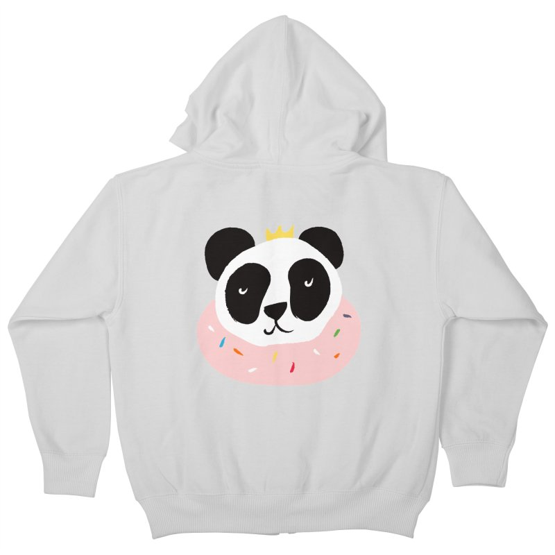 Panda Donut Kids Zip-Up Hoody by meredith's Artist Shop