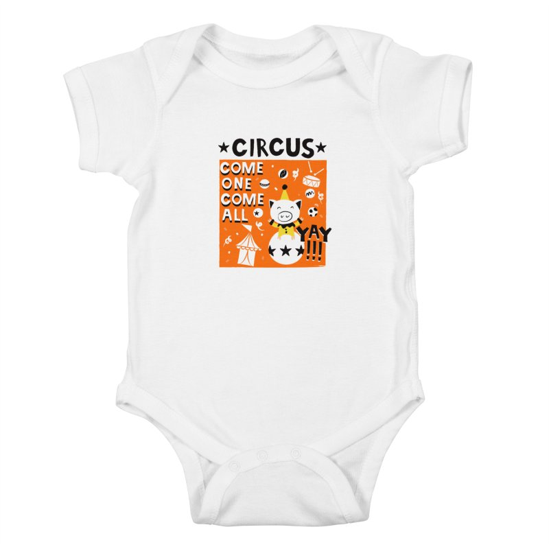 Circus Kids Baby Bodysuit by meredith's Artist Shop