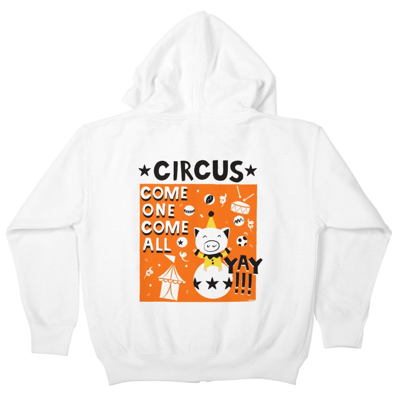 Circus Kids Zip-Up Hoody by meredith's Artist Shop